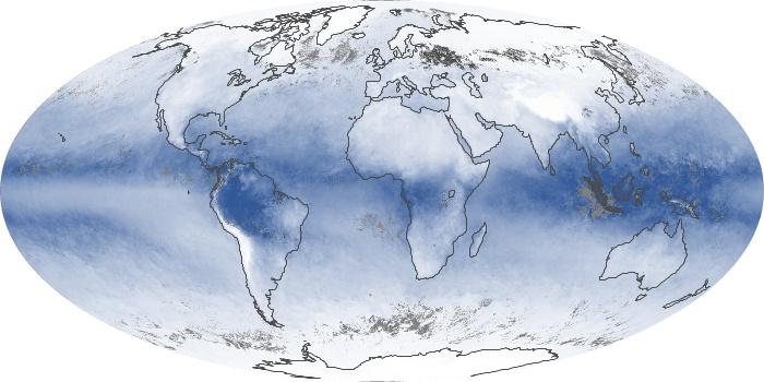 Global Map Water Vapor Image 173