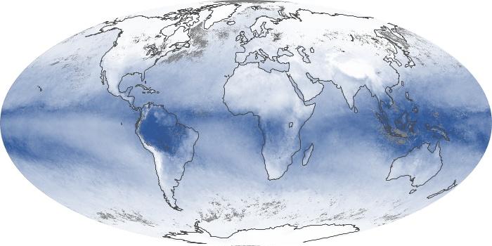 Global Map Water Vapor Image 174