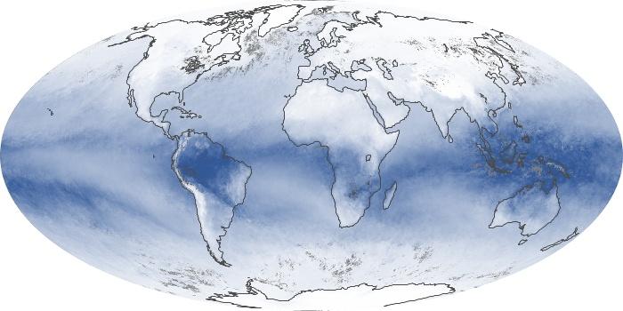 Global Map Water Vapor Image 175
