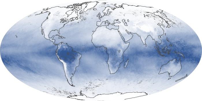 Global Map Water Vapor Image 176