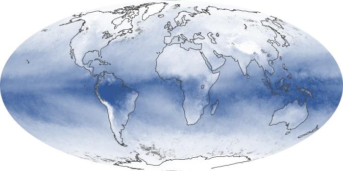 Global Map Water Vapor Image 177