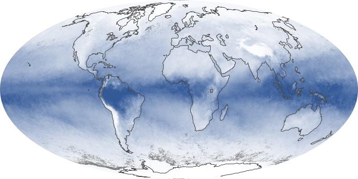 Global Map Water Vapor Image 130