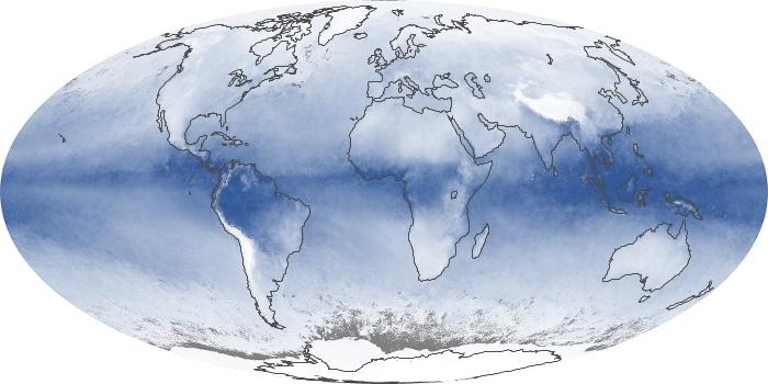 Global Map Water Vapor Image 179