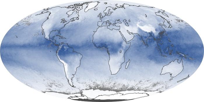 Global Map Water Vapor Image 180