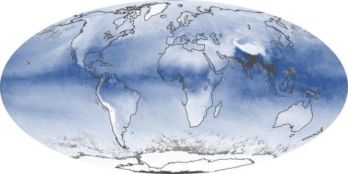 Global Map Water Vapor Image 133