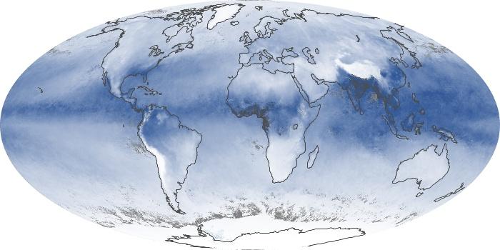 Global Map Water Vapor Image 182