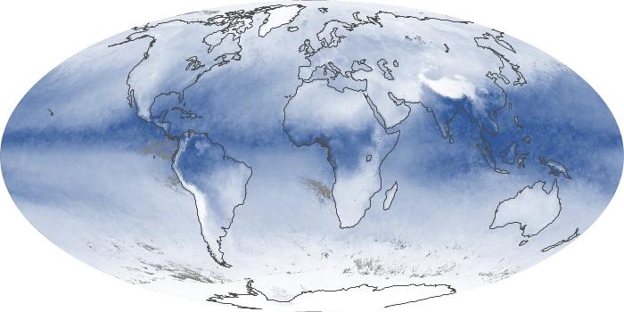 Global Map Water Vapor Image 135