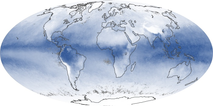 Global Map Water Vapor Image 184