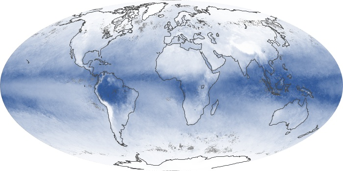 Global Map Water Vapor Image 185