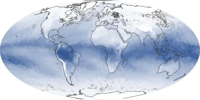 Global Map Water Vapor Image 186