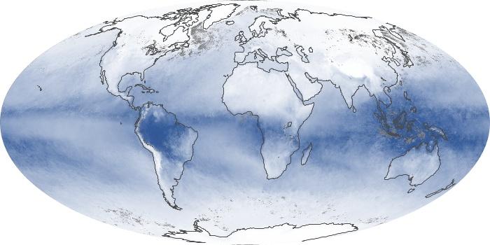 Global Map Water Vapor Image 187