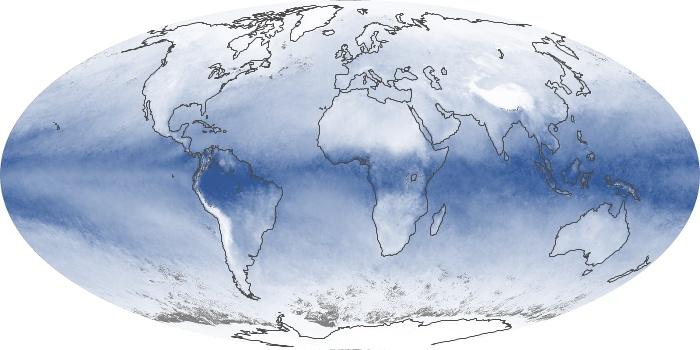 Global Map Water Vapor Image 142