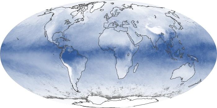 Global Map Water Vapor Image 191