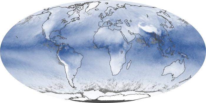 Global Map Water Vapor Image 192