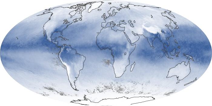 Global Map Water Vapor Image 195