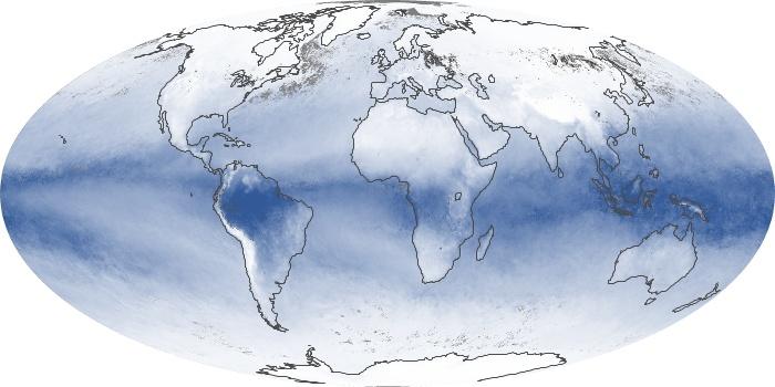 Global Map Water Vapor Image 198