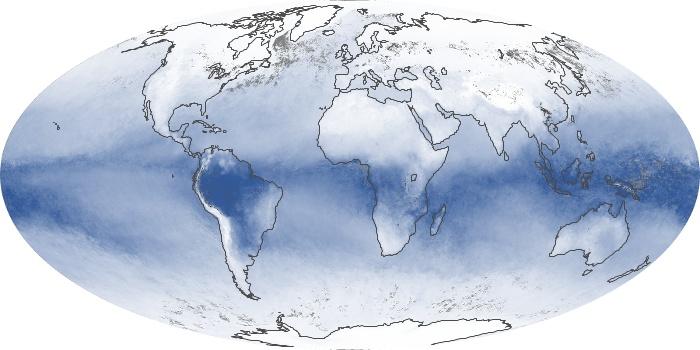 Global Map Water Vapor Image 199