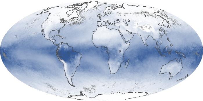 Global Map Water Vapor Image 200