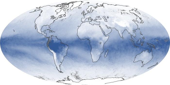 Global Map Water Vapor Image 201