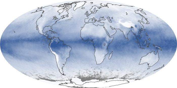Global Map Water Vapor Image 203