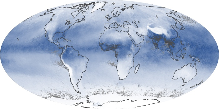 Global Map Water Vapor Image 206
