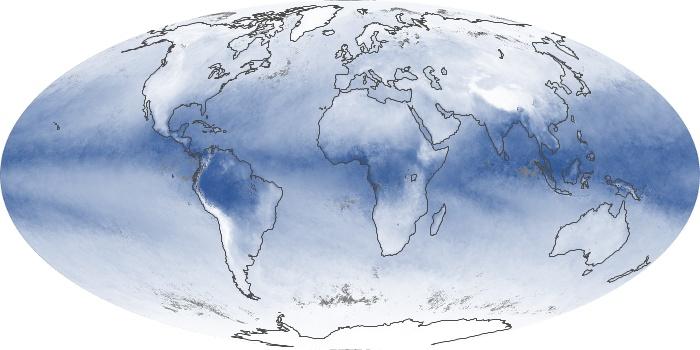 Global Map Water Vapor Image 208
