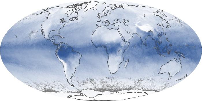 Global Map Water Vapor Image 227