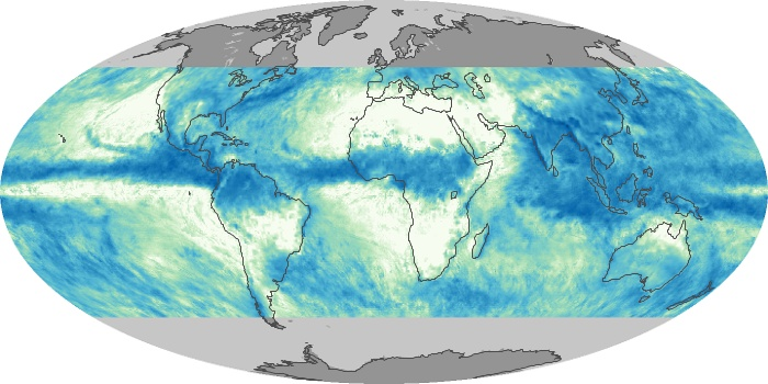Global Map Total Rainfall Image 7