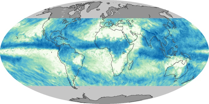 Global Map Total Rainfall Image 8