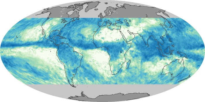 Global Map Total Rainfall Image 22