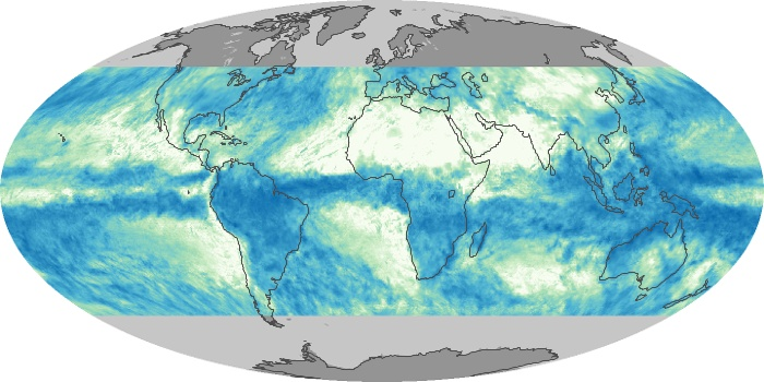 Global Map Total Rainfall Image 1