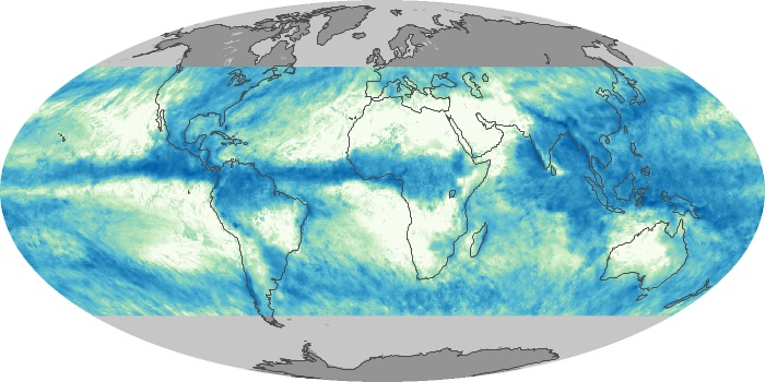 Global Map Total Rainfall Image 5