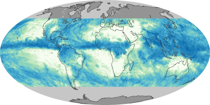 Global Map Total Rainfall Image 32