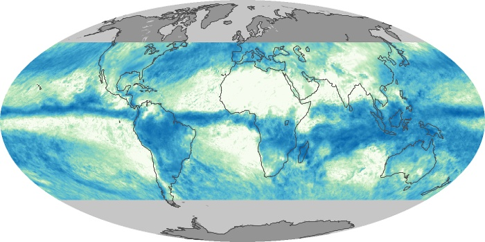 Global Map Total Rainfall Image 12