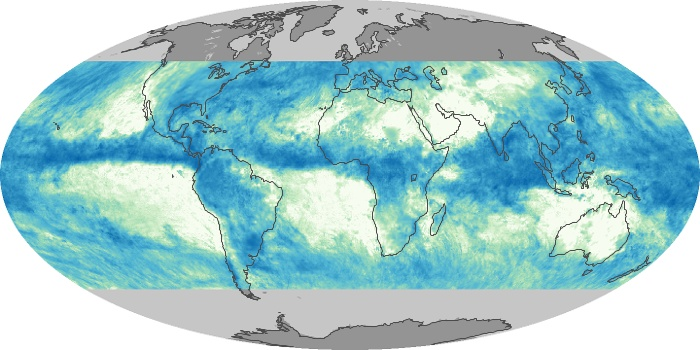 Global Map Total Rainfall Image 33
