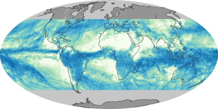 Global Map Total Rainfall Image 37