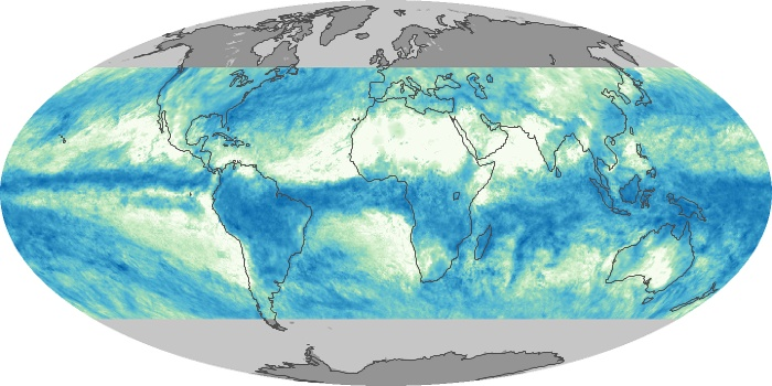 Global Map Total Rainfall Image 38