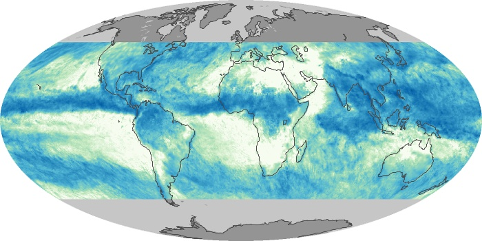 Global Map Total Rainfall Image 68