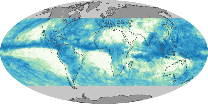 Global Map Total Rainfall Image 45