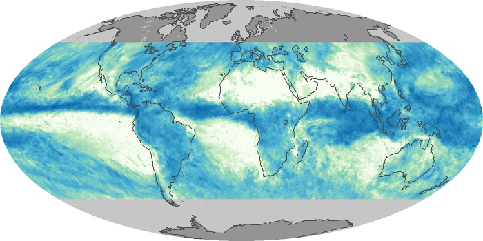Global Map Total Rainfall Image 46