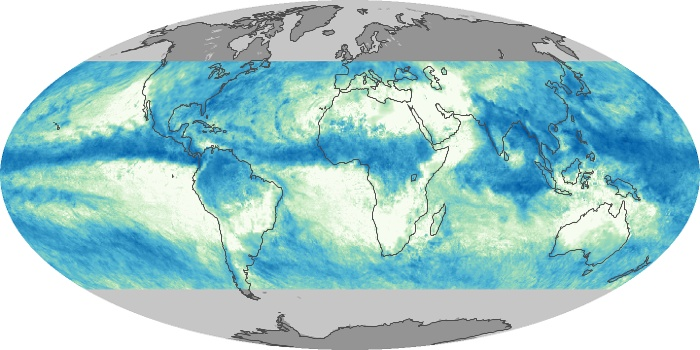 Global Map Total Rainfall Image 55
