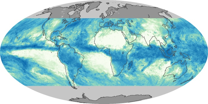 Global Map Total Rainfall Image 59