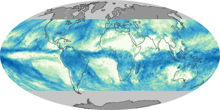 Global Map Total Rainfall Image 86