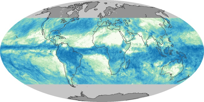 Global Map Total Rainfall Image 87