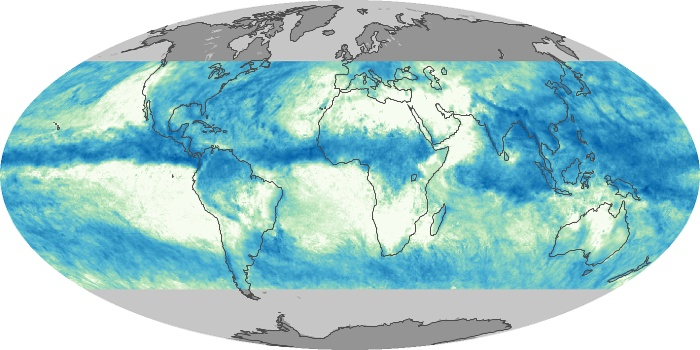 Global Map Total Rainfall Image 92