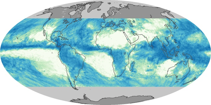 Global Map Total Rainfall Image 70