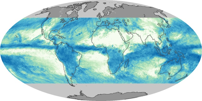 Global Map Total Rainfall Image 97