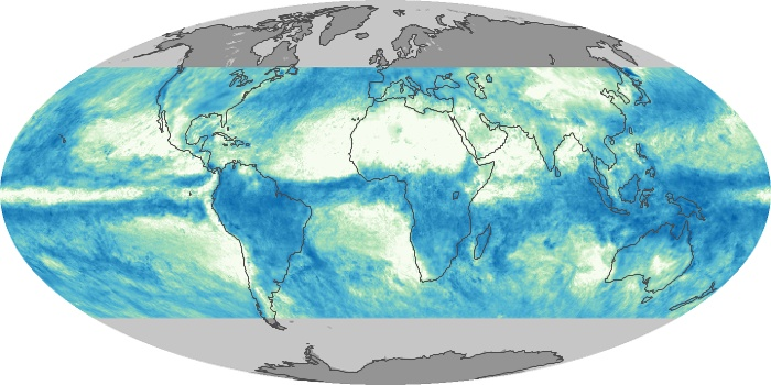 Global Map Total Rainfall Image 99