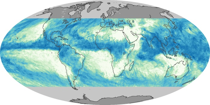 Global Map Total Rainfall Image 105