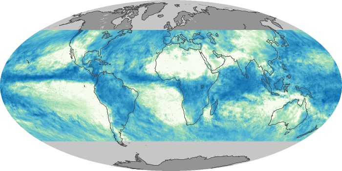 Global Map Total Rainfall Image 82